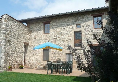 Ancient farm with large terrace and private courtyard in a village Auvergne