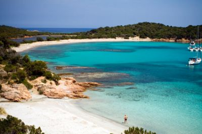 Remote beach in Corsica, France